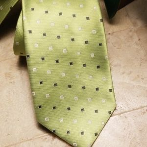 Laurant Bennet Lime Green Men's Tie NWT